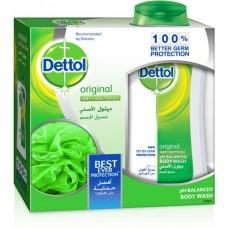 ديتول - غسول للجسم سائل مضاد للبكتيريا ، 250 مل مع نفخة